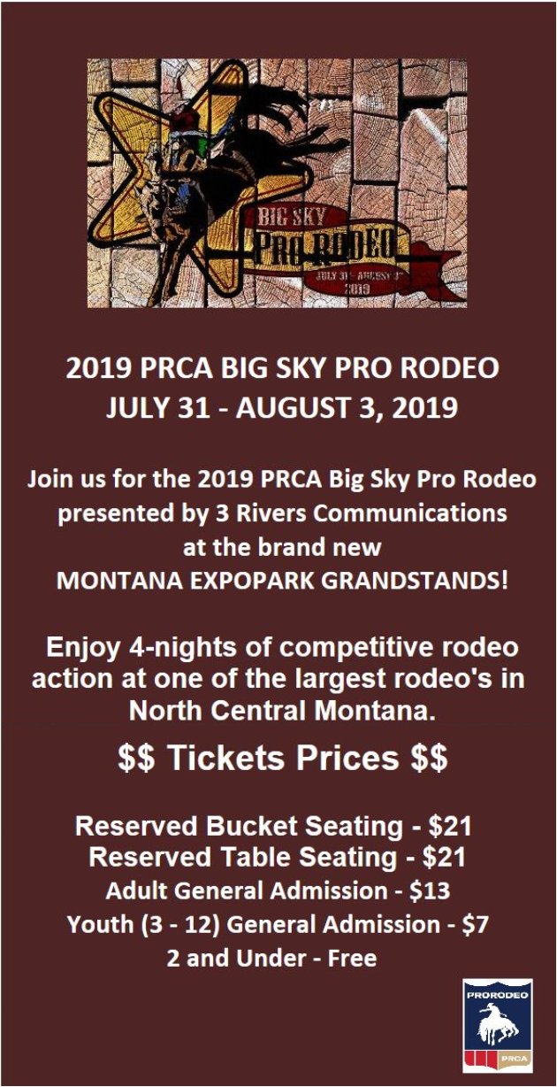 Tickets On Sale Now Big Sky Pro Rodeo